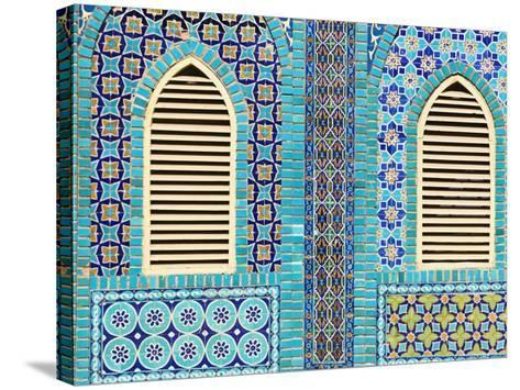Tiling Round Shuttered Windows, Shrine of Hazrat Ali, Who was Assissinated in 661, Balkh Province-Jane Sweeney-Stretched Canvas Print