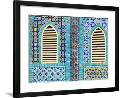 Tiling Round Shuttered Windows, Shrine of Hazrat Ali, Who was Assissinated in 661, Balkh Province-Jane Sweeney-Framed Art Print