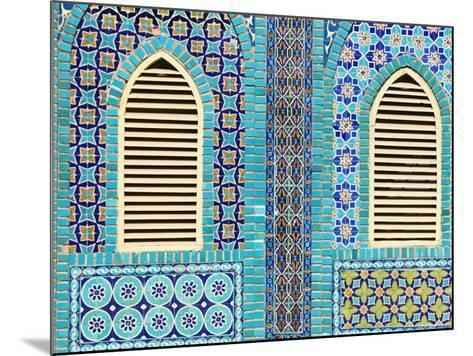 Tiling Round Shuttered Windows, Shrine of Hazrat Ali, Who was Assissinated in 661, Balkh Province-Jane Sweeney-Mounted Photographic Print