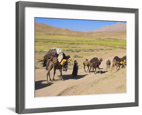 Kuchie Nomad Camel Train, Between Chakhcharan and Jam, Afghanistan-Jane Sweeney-Framed Art Print