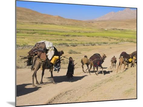 Kuchie Nomad Camel Train, Between Chakhcharan and Jam, Afghanistan-Jane Sweeney-Mounted Photographic Print