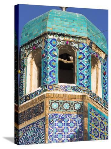 Famous White Pigeon in Minaret, Who was Assassinated in 661, Afghanistan-Jane Sweeney-Stretched Canvas Print