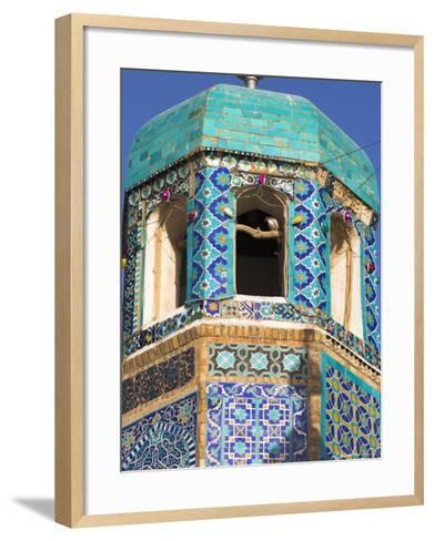 Famous White Pigeon in Minaret, Who was Assassinated in 661, Afghanistan-Jane Sweeney-Framed Art Print
