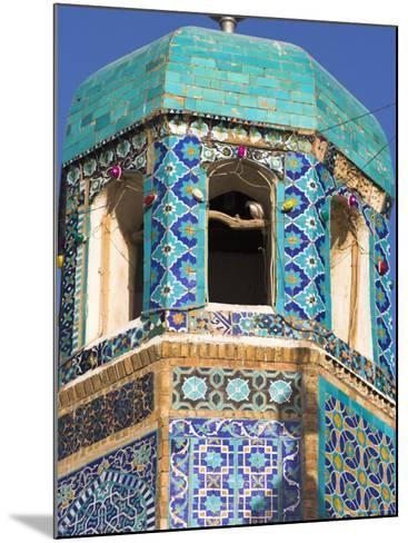 Famous White Pigeon in Minaret, Who was Assassinated in 661, Afghanistan-Jane Sweeney-Mounted Photographic Print