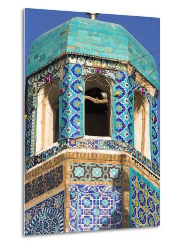 Famous White Pigeon in Minaret, Who was Assassinated in 661, Afghanistan-Jane Sweeney-Metal Print