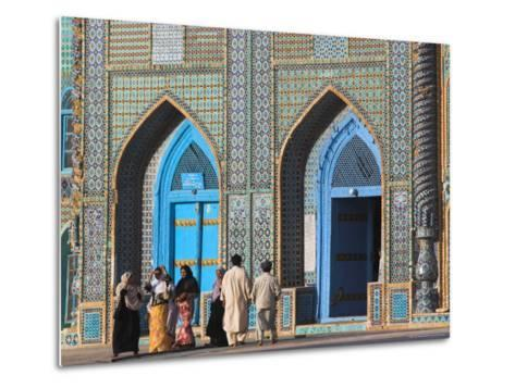 Pilgrims at the Shrine of Hazrat Ali, Who was Assassinated in 661, Mazar-I-Sharif, Afghanistan-Jane Sweeney-Metal Print