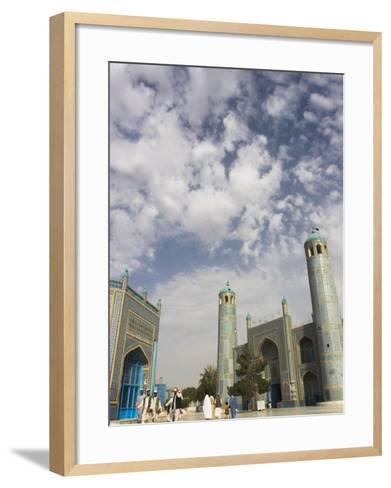 Pilgrims at the Shrine of Hazrat Ali, Who was Assassinated in 661, Mazar-I-Sharif, Afghanistan-Jane Sweeney-Framed Art Print