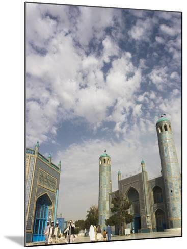 Pilgrims at the Shrine of Hazrat Ali, Who was Assassinated in 661, Mazar-I-Sharif, Afghanistan-Jane Sweeney-Mounted Photographic Print
