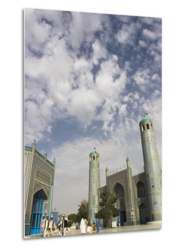 Pilgrims at the Shrine of Hazrat Ali, Who was Assassinated in 661, Mazar-I-Sharif, Afghanistan-Jane Sweeney-Metal Print