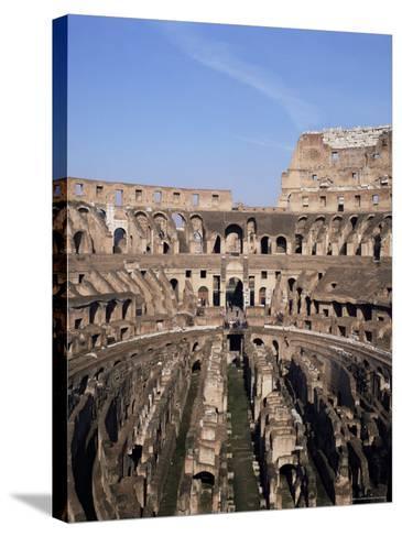 Interior of the Arena and the Cavea, Colosseum, Rome, Lazio, Italy-Adina Tovy-Stretched Canvas Print