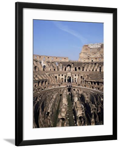 Interior of the Arena and the Cavea, Colosseum, Rome, Lazio, Italy-Adina Tovy-Framed Art Print