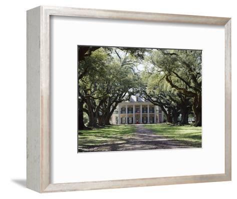 Exterior of Plantation Home, Oak Alley, New Orleans, Louisiana, USA-Adina Tovy-Framed Art Print