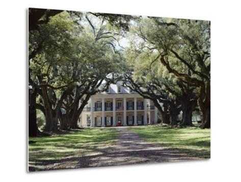Exterior of Plantation Home, Oak Alley, New Orleans, Louisiana, USA-Adina Tovy-Metal Print