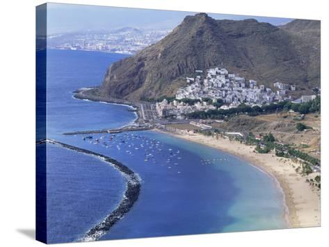 Las Teresitas Beach, Near Santa Cruz De Tenerife, Tenerife, Canary Islands, Spain, Atlantic-Adina Tovy-Stretched Canvas Print