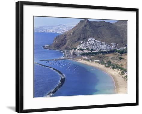 Las Teresitas Beach, Near Santa Cruz De Tenerife, Tenerife, Canary Islands, Spain, Atlantic-Adina Tovy-Framed Art Print