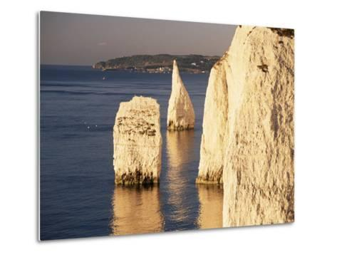 Early Morning Light on the Pinnacles, Handfast Point, Studland, Dorset, England-Ruth Tomlinson-Metal Print