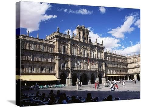 The Town Hall in the Plaza Mayor, Salamanca, Castilla Y Leon, Spain-Ruth Tomlinson-Stretched Canvas Print