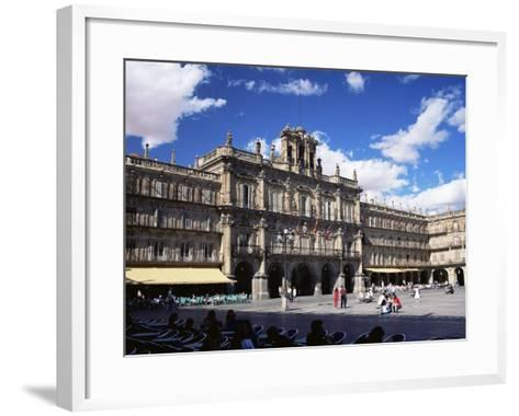 The Town Hall in the Plaza Mayor, Salamanca, Castilla Y Leon, Spain-Ruth Tomlinson-Framed Art Print