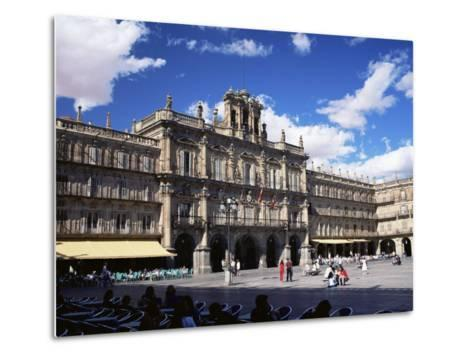 The Town Hall in the Plaza Mayor, Salamanca, Castilla Y Leon, Spain-Ruth Tomlinson-Metal Print