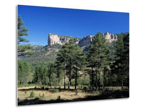 Pine Forest and Cliffs Above the Jucar Gorge, Cuenca, Castilla-La Mancha (New Castile), Spain-Ruth Tomlinson-Metal Print