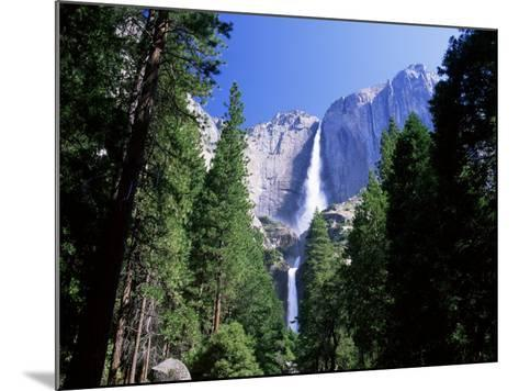 Upper and Lower Yosemite Falls, Swollen by Summer Snowmelt, Yosemite National Park, California-Ruth Tomlinson-Mounted Photographic Print