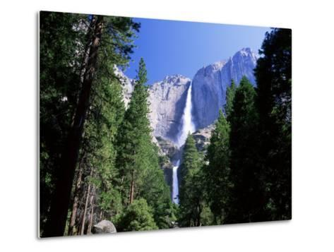 Upper and Lower Yosemite Falls, Swollen by Summer Snowmelt, Yosemite National Park, California-Ruth Tomlinson-Metal Print