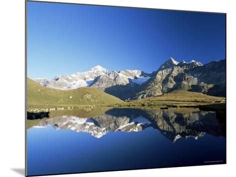 Dent Blanche and Ober Gabelhorn Reflected in Lake, Zermatt, Valais, Switzerland-Ruth Tomlinson-Mounted Photographic Print