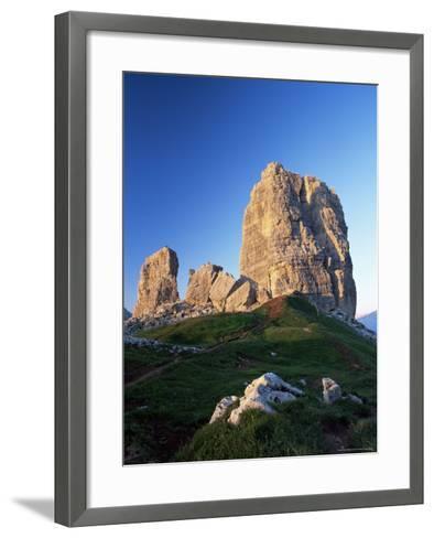 Cinque Torri at Sunset, Near Cortina d'Ampezzo, Dolomites, Veneto, Italy-Ruth Tomlinson-Framed Art Print