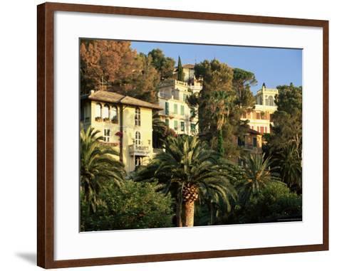 Hillside Mansions Amongst Palms, Santa Margherita Ligure, Portofino Peninsula, Liguria, Italy-Ruth Tomlinson-Framed Art Print