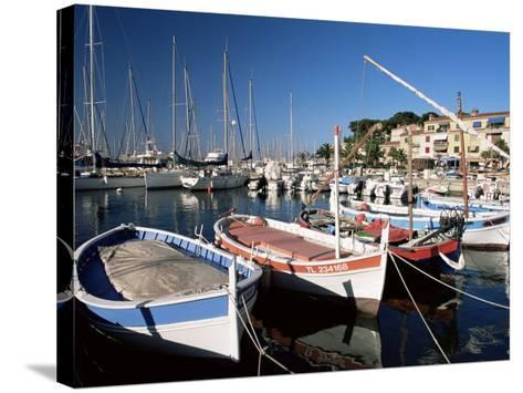 Fishing Boats in the Harbour, Sanary-Sur-Mer, Var, Cote d'Azur, Provence, France-Ruth Tomlinson-Stretched Canvas Print