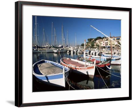 Fishing Boats in the Harbour, Sanary-Sur-Mer, Var, Cote d'Azur, Provence, France-Ruth Tomlinson-Framed Art Print
