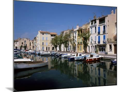 View Across Canal to Colourful Houses, Martigues, Bouches-Du-Rhone, Provence, France-Ruth Tomlinson-Mounted Photographic Print