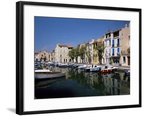View Across Canal to Colourful Houses, Martigues, Bouches-Du-Rhone, Provence, France-Ruth Tomlinson-Framed Art Print