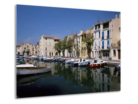 View Across Canal to Colourful Houses, Martigues, Bouches-Du-Rhone, Provence, France-Ruth Tomlinson-Metal Print