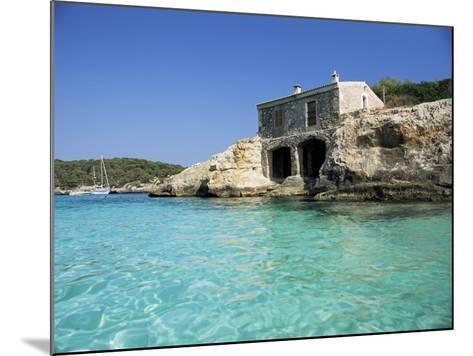 Stone Dwelling Overlooking Bay, Cala Mondrago, Majorca, Balearic Islands, Spain-Ruth Tomlinson-Mounted Photographic Print
