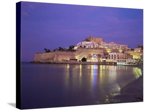 The Citadel by Night, Peniscola, Costa Del Azahar, Valencia, Spain, Mediterranean-Ruth Tomlinson-Stretched Canvas Print