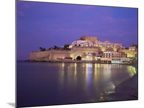 The Citadel by Night, Peniscola, Costa Del Azahar, Valencia, Spain, Mediterranean-Ruth Tomlinson-Mounted Photographic Print