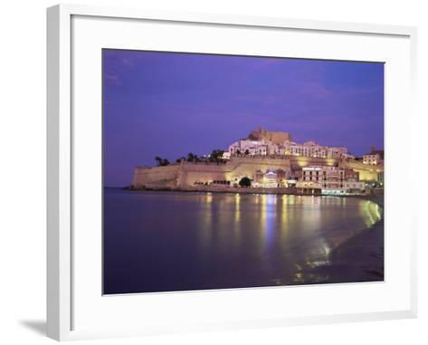 The Citadel by Night, Peniscola, Costa Del Azahar, Valencia, Spain, Mediterranean-Ruth Tomlinson-Framed Art Print
