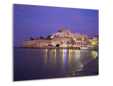 The Citadel by Night, Peniscola, Costa Del Azahar, Valencia, Spain, Mediterranean-Ruth Tomlinson-Metal Print