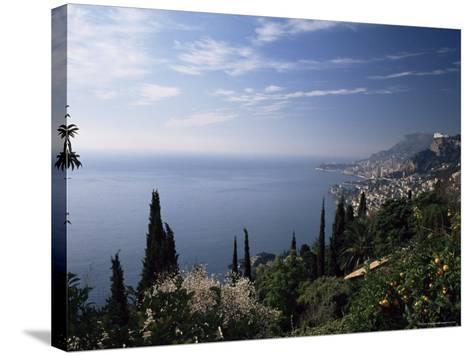 Roquebrune, View Along Coast Towards Monaco, Alpes-Maritimes, Cote d'Azur, Provence, France-Ruth Tomlinson-Stretched Canvas Print