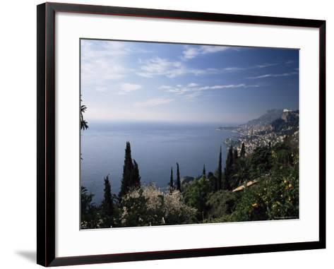 Roquebrune, View Along Coast Towards Monaco, Alpes-Maritimes, Cote d'Azur, Provence, France-Ruth Tomlinson-Framed Art Print