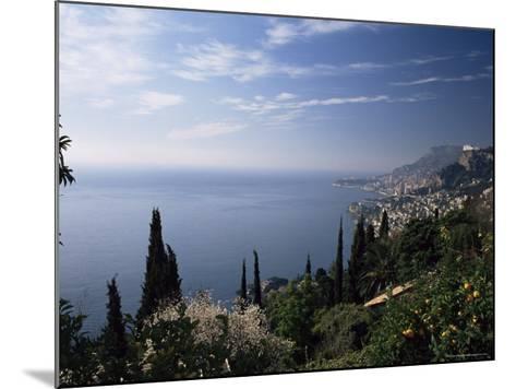 Roquebrune, View Along Coast Towards Monaco, Alpes-Maritimes, Cote d'Azur, Provence, France-Ruth Tomlinson-Mounted Photographic Print
