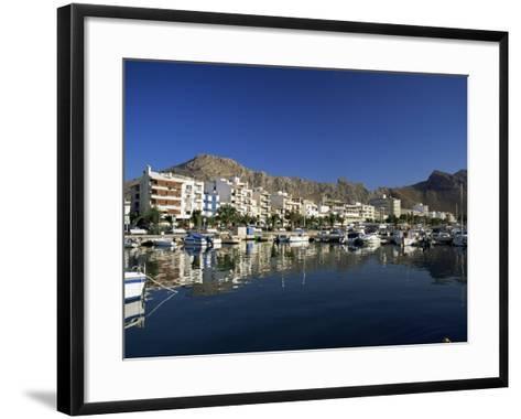 Harbour in the Morning, Puerto Pollensa, Majorca, Balearic Islands, Spain, Mediterranean-Ruth Tomlinson-Framed Art Print