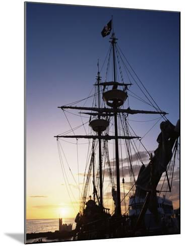 Pirate Ship in Hog Sty Bay, During Pirates' Week Celebrations, George Town, Cayman Islands-Ruth Tomlinson-Mounted Photographic Print