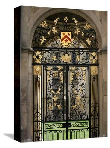 Ornate Gilt Gate of All Souls' College, Oxford, Oxfordshire, England, United Kingdom-Ruth Tomlinson-Stretched Canvas Print