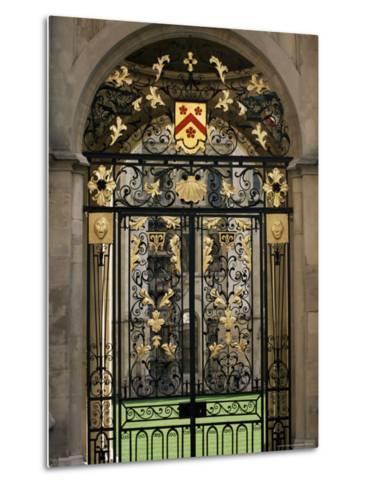 Ornate Gilt Gate of All Souls' College, Oxford, Oxfordshire, England, United Kingdom-Ruth Tomlinson-Metal Print