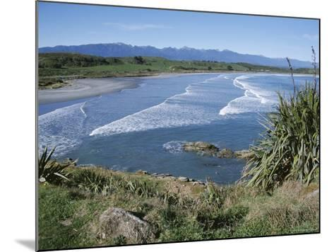 Surf Rolling onto Deserted Beaches, Greymouth, Westland, West Coast, South Island, New Zealand-D H Webster-Mounted Photographic Print