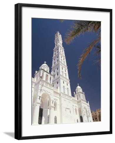 Al Mindhar Mosque, Tarim, Yemen, Middle East-Doug Traverso-Framed Art Print