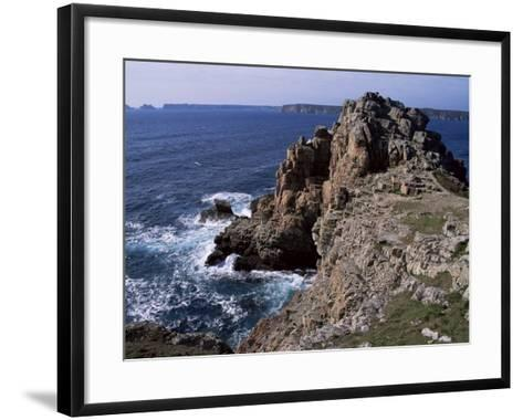 Dinan Point, Crozon Peninsula, Brittany, France-Guy Thouvenin-Framed Art Print