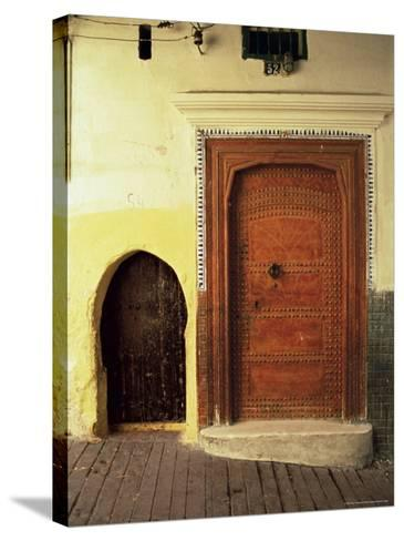 Doors in the Medina, Tangiers, Morocco, North Africa, Africa-Guy Thouvenin-Stretched Canvas Print